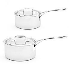 image of demeyere 5plus stainless steel covered saucepan - Demeyere