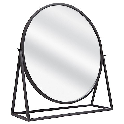 Raw Metal Pedestal Floor Mirror - Bed Bath & Beyond