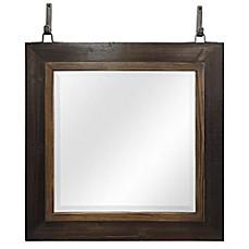 Image Of Sierra Wall Mirror In Weathered Wood