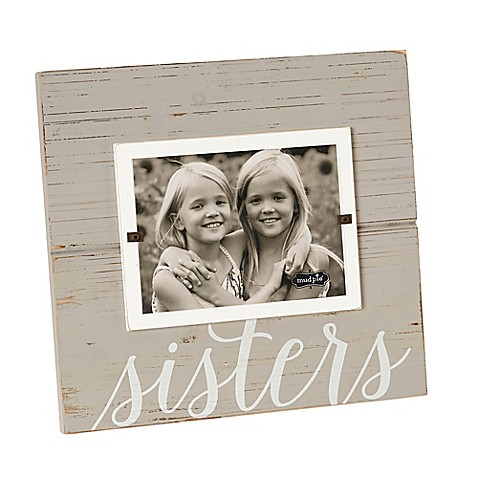 Mud Pie 174 Sisters 5 Inch X 7 Inch Picture Frame In Grey