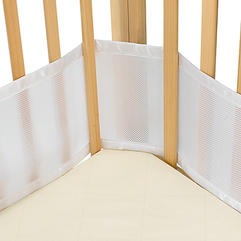 BreathableBaby&reg: Mesh Crib Liner for Portable Cribs and Cradles in White