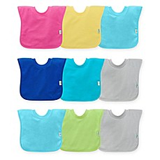 image of green sprouts® by i play® 3-Pack Pull-Over Stay-Dry Bibs in Blue