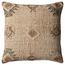 image of magnolia home by joanna gaines troy square throw pillow in beigesilver