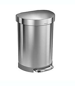 Bote de basura semi redondo de acero inoxidable simplehuman® con pedal 60 L