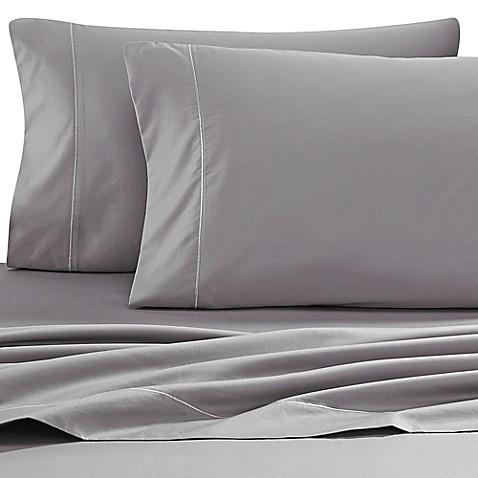 buy wamsutta 500 thread count pimacott memory foam mattress queen sheet set in grey from bed. Black Bedroom Furniture Sets. Home Design Ideas