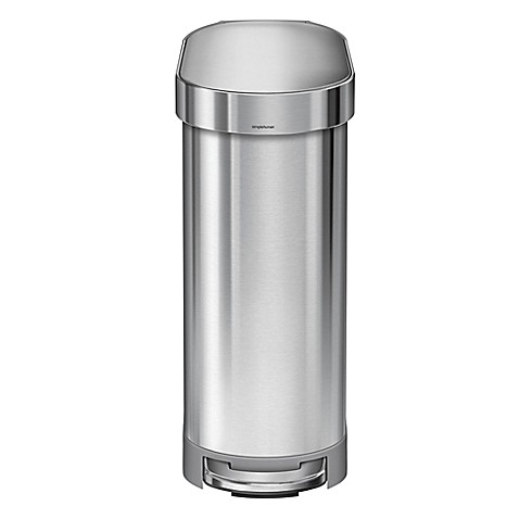 simplehuman® Slim 45-Liter Step-On Trash Can with Liner Rim