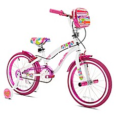 image of Kent Starlite 18-Inch Girl's Bicycle in White/Pink