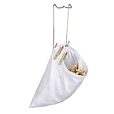 image of Honey-Can-Do® Hanging Cotton Clothespin Bag in White