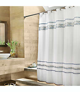 Cortina de baño de poliéster Croscill® Spa Tile de 1.77 x 1.90 m