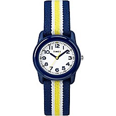 image of Timex® Time Machines Children's 29mm Watch with Blue/Yellow Nylon Strap