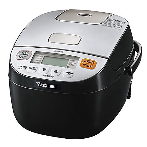 Zojirushi Micom 3 Cup Rice Cooker Warmer In Silver Black