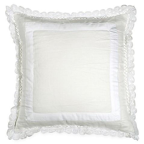 Wamsutta 174 Vintage Gauze Double Ruffle Square Throw Pillow