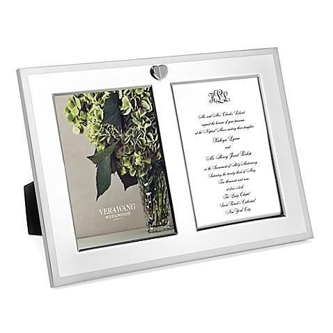 Vera Wang Wedgwood® Love Always Double Invitation Frame - Bed Bath ...