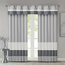 image of Madison Park Amherst Window Curtain Panel and Valance
