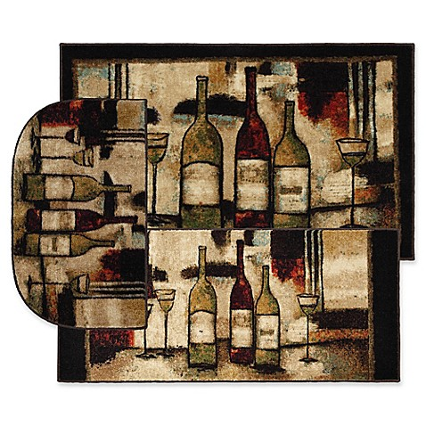 Buy Mohawk Home Wine And Glasses Accent Rug In Brown Set