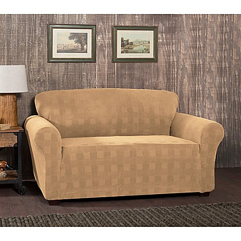 Stretch Plaid Loveseat Slipcover Bed Bath Beyond