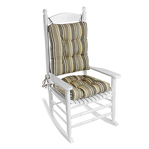 Klear Vu Brady Stripe Easy Care 2 Piece Rocking Chair Pad