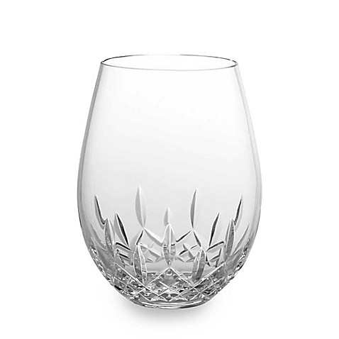 buy waterford lismore nouveau stemless crystal 18 oz deep red wine glasses set of 2 from bed. Black Bedroom Furniture Sets. Home Design Ideas