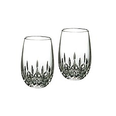 image of Waterford® Lismore Nouveau Stemless Crystal 8 oz. White Wine Glasses (Set of 2)