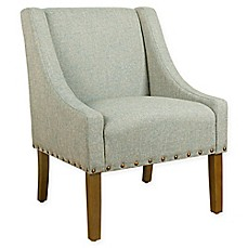 HomePop Swoop Heathered Tweed Upholstered Modern Accent Chair