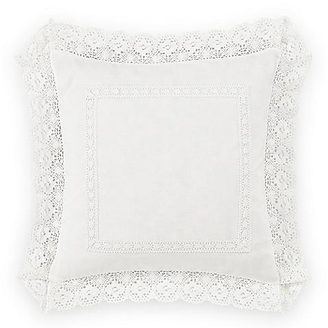 Laura Ashley 174 Annabella 18 Inch Square Throw Pillow In
