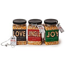 image of Wabash Valley Farms™ 3-Pack Holiday Big & Yellow Popcorn Kernel Jars