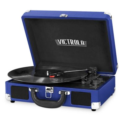 image of Victrola™ 3-Speed Bluetooth® Portable Suitcase Turntable