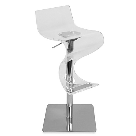Lumisource Viva Acrylic Bar Stool In Clear Bed Bath Amp Beyond