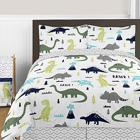 Image Of Sweet Jojo Designs Mod Dinosaur Bedding Collection In Turquoise Navy