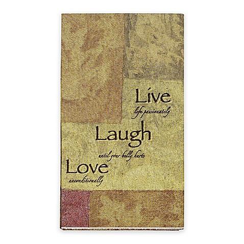 Live Love Laugh 16 Count Paper Guest Towels Bed Bath