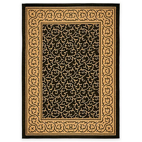 Buy safavieh courtyard 4 foot x 5 foot 7 inch vera indoor outdoor rug in black natural from bed - Tips to consider when buying an outdoor rug ...
