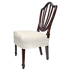 Image Of Fabric Chair Seat Cover Set 2