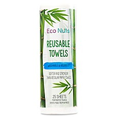 image of Eco Nuts® 25-Pack Reusable Paper Towels