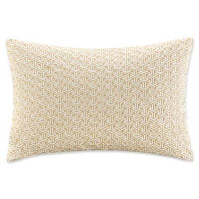 Buy Madison Park Basket Weave Oblong Throw Pillow in Yellow from Bed Bath & Beyond