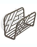Portaesponjas de acero Spectrum™ Wright™ con ventosas color gris