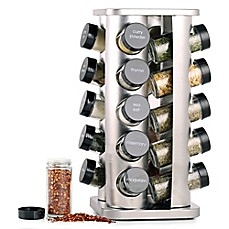 image of Orii™ Gourmet Rivetto 20-Jar  Lazy Susan Spice Rack