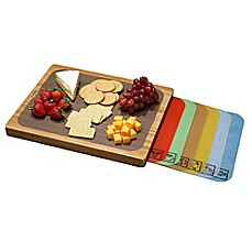 Seville Classics Cutting Board with Mats