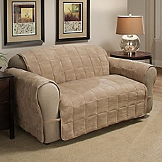 Image Of Ultimate Faux Suede Loveseat Protector