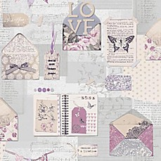 image of V.I.P PS I Love You Stationary Wallpaper in Lilac