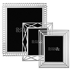 image of Olivia & Oliver Picture Frame in Silver