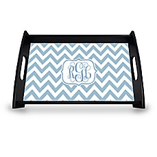 image of Carved Solutions Chevron Serving Tray in Blue
