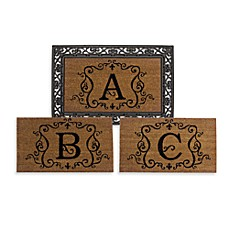 image of Rubber Door Mat Frame and Monogram Inserts