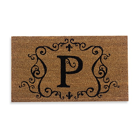 Monogram Letter Quot P Quot Door Mat Insert Bed Bath Amp Beyond