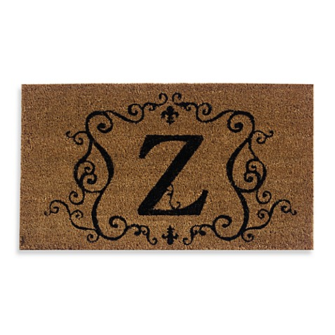 Monogram Letter Quot Z Quot Door Mat Insert Bed Bath Amp Beyond