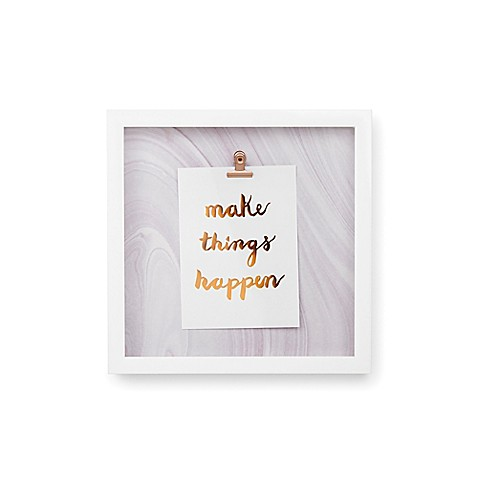 Umbra 174 Motto Quot Make Things Quot Shadow Box Wall Art In White