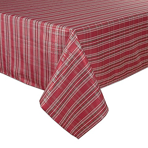 Bardwil linens christmas plaid tablecloth collection bed for Table runners 52 inches