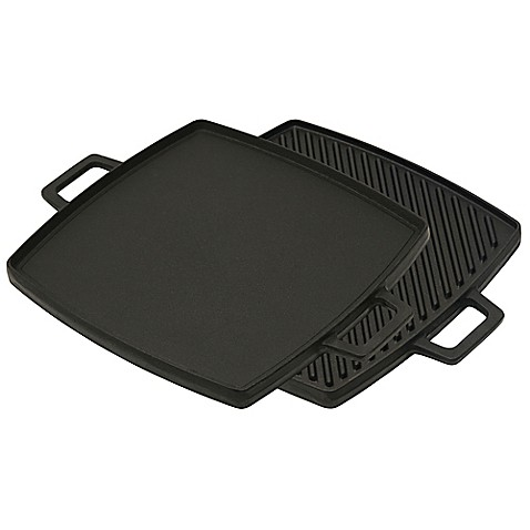 buy bayou classic cast iron 18 inch reversible stovetop grill griddle from bed bath beyond. Black Bedroom Furniture Sets. Home Design Ideas