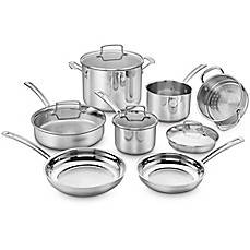 image of Cuisinart® Chef's Classic Pro 11-Piece Cookware Set in Stainless Steel