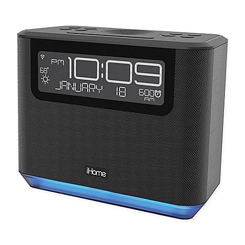 image of ihome bedside alexa alarm clock in black