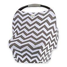 image of Itzy Ritzy® Mom Boss™ Multi-Use Cover in Grey Chevron